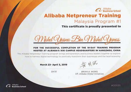 Alibaba Netpreneur March 2019